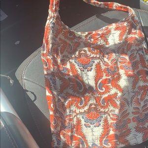 Free people linen shoulder tote bag